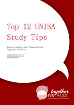 Cover of Top 12 UNISA Study Tips