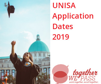 UNISA Application Dates 2019