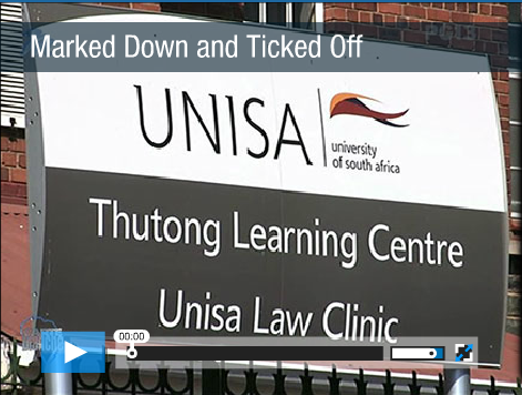Video Clip of the Carte Blanche expose of UNISA