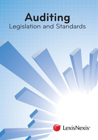 Auditing: Legislation and Standards. - aue1601 book