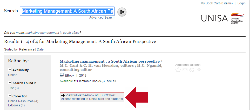 Click on the text View full text e-book at EBSCOhost.