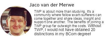 Jaco van der Merwe's testimonial