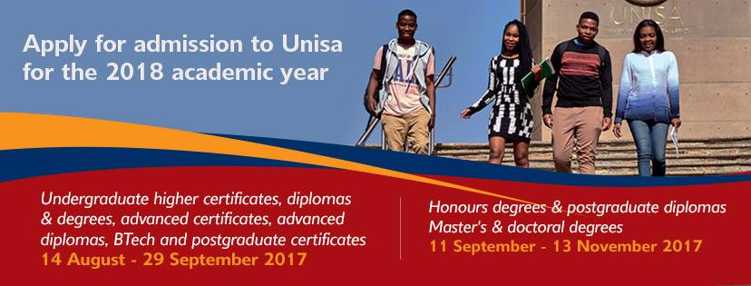 UNISA online application 2018
