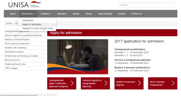 Unisa Courses 2017