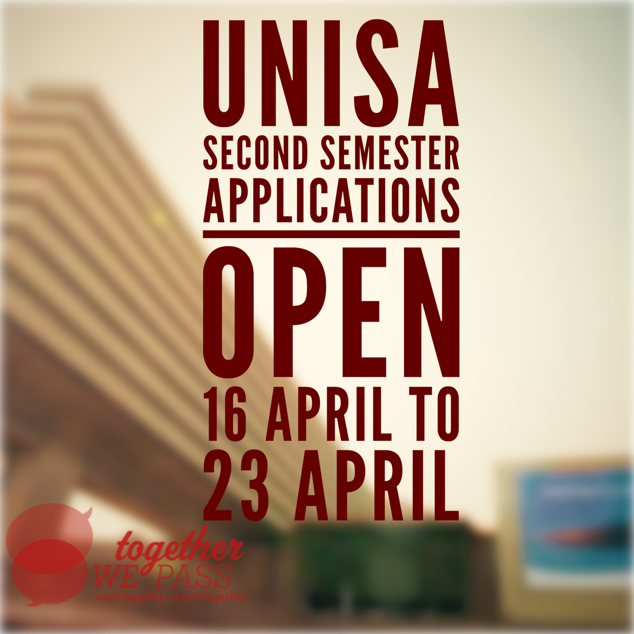 UNISA application closing date for 2018