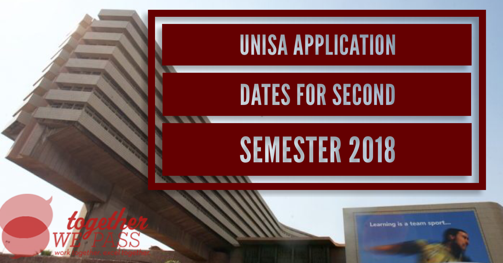 Unisa Applications for Second Semester 2018 Now Open