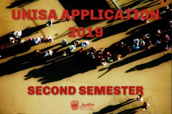 UNISA-Application-2019-2nd Semester