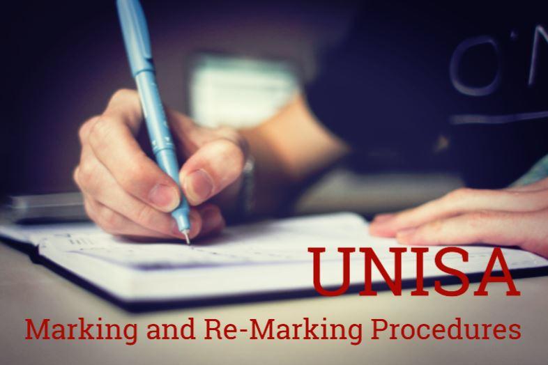 Unisa Marking and Re-Marking Procedures