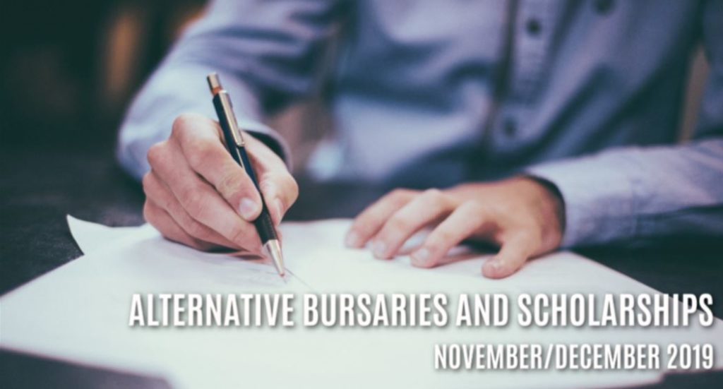 Alternative Bursaries and Scholarship options available in November and December 2019